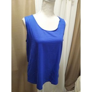 Size 2 (L) Chico's light blue/ periwinkle cami